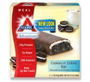 Atkins Advantage Cookies n' Creme Bar 5 Bars 1.7 oz (48 g) Each