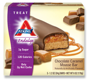 Atkins Endulge Chocolate Caramel Mousse Bar 5 Bars 1.2 oz (34 g) Each
