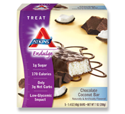 Atkins Endulge Chocolate Coconut Bar 5 Bars 1.4 oz (40 g) Each