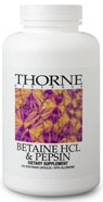 Thorne Research Betaine HCL Pepsin 225 Caps Reviews