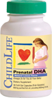 ChildLife Essentials Prenatal DHA Natural Lemon Flavor 30 Soft Gel Capsules