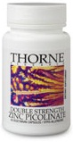 Thorne Research Double Strength Zinc Picolinate Reviews