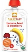 Happy Baby Banana Beets Blueberry Stage 2 6+ Months 3.5 oz (99 g)