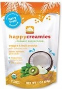 Happy Baby Happy Creamies Veggie & Fruit Snacks Apple Spinach Pea & Kiwi 1 oz (28 g)
