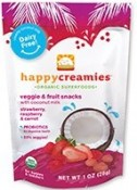 Happy Baby Happy Creamies Veggie & Fruit Snacks Strawberry Raspberry & Carrot 1 oz (28 g)