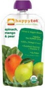 Happy Baby Happytot Organic SuperFoods Spinach Mango & Pear 4.22 oz (120 g)