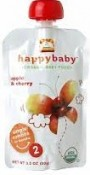 Happy Baby Organic Baby Food Apple & Cherry Stage 2 6+ Months 3.5 oz (99 g)
