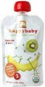 Happy Baby Organic Baby Food Banana & Kiwi Stage 2 6+ Months 3.5 oz (99 g)