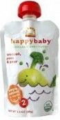 Happy Baby Organic Baby Food Broccoli Peas & Pear Stage 2, 6+ Months 3.5 oz (99 g)