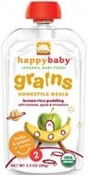 Happy Baby Organic Baby Food Grains Homestyle Meals Brown Rice Pudding with Banana, Apple & Cinnamon 3.5 oz (99 g)