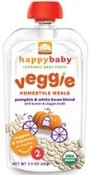 Happy Baby Organic Baby Food Veggie Homestyle Meals Pumpkin & White Bean Blend 3.5 oz (99 g)