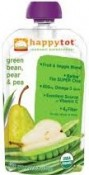 Happy Baby happytot Organic Superfoods Green Bean Pear and Pea 4.22 oz (120 g)