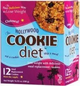 Hollywood Diet Cookie Oatmeal Raisin 12 Meal Replacement Cookies