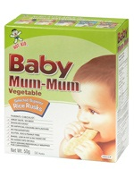 Hot Kid Baby Mum-Mum Vegetable Rice Rusks 24 Rusks 1.76 oz (50 g) Each