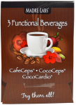 Madre Labs 3 Functional Beverages CafeCeps, CocoCeps, CocoCardio, 3 Sample Packets