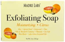 Madre Labs Exfoliating Soap Bar Citrus 5 oz (141 g)