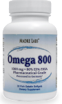 Madre Labs Omega 800 1000 mg, 30 Fish Gelatin Softgels