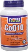 Now Foods CoQ10 + Fish Oil 120 Softgels