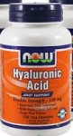 Now Foods Hyaluronic Acid Double Strength 100 mg 120 Veggie Caps