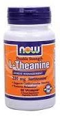 Now Foods L-Theanine Double Strength 200 mg 60 Vcaps