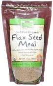 Now Foods Real Food Certified Oragnic Flax Seed Meal 12 oz (340 g)