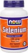 Now Foods Selenium Yeast Free 250 Tablets