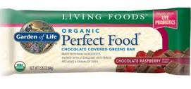 Garden of Life Organic Perfect Food Chocolate Covered Greens Bar 12 Bars 2.25 oz (64 g) Each