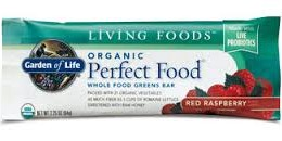 Garden of Life Perfect Food Whole Food Greens Bar 12 Bars 2.25 oz (64 g) Each