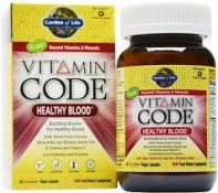 Garden of Life Vitamin Code Healthy Blood 60 Vegan Caps
