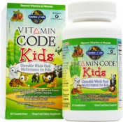 Garden of Life Vitamin Code Kids Multivitamin 30 Chewable Bears