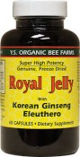 Y.S. Eco Bee Farms Royal Jelly with Korean Ginseng Eleuthero 65 Capsules