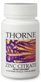 Thorne Research Zinc Citrate Reviews